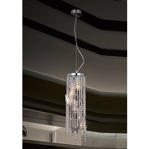 Подвесной светильник Crystal Lux Bloom SP5 Chrome торшер crystal lux bloom pt6 chrome