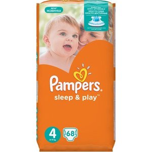 "Подгузники Pampers ""Sleep and Play"" 7-14кг 68шт"