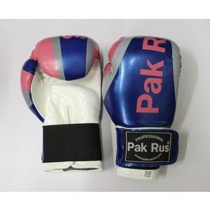 Перчатки боксерские Pak Rus 10 OZ синие (искуственная кожа)