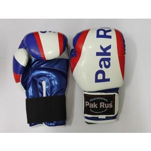 Перчатки боксерские Pak Rus 12 OZ триколор (искуственная кожа)