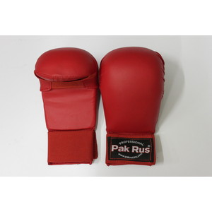 Перчатки для карате Pak Rus красные