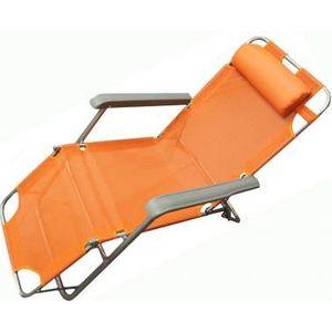 Кресло-шезлонг Woodland Lounger Textilene оранж. СК-056А 0036509 adjustable rattan sun lounger patio garden beach lounger transport by sea