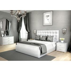 Кровать Lonax Аврора с основанием экокожа albert white (160x195 см) кровать lonax аврора с основанием экокожа albert white 160x195 см