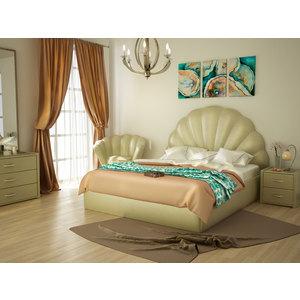 Кровать Lonax Жемчужина с основанием Эко кожа- Albert Pearl (160х195 см)