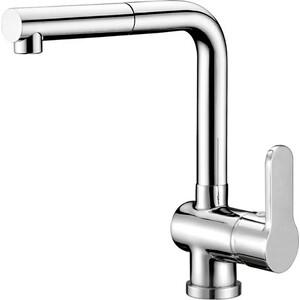 Смеситель для кухни BelBagno Tanaro с выдвижным душем, хром (TAN-LADM-CRM) душевая система belbagno slip со смесителем для ванны верхним и ручным душем ручки foglio хром sli doc crm foglio