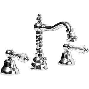 Смеситель Cezares Diamond для биде на 3 отверстия с донным клапаном, хром, ручки Swarovski (Diamond-BBS2-01-Sw) смеситель для биде smartsant тренд sm054005aa