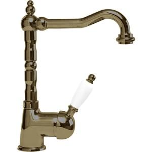 Смеситель Cezares Elite для раковины с донным клапаном, бронза, ручки белые (Elite-LSM2-02-Bi) смеситель cezares lord для биде с донным клапаном lord bs2 01