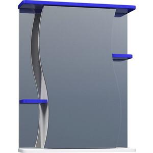 Зеркальный шкаф VIGO Alessandro (№11-550-син) 55х15х70 alessandro черные замшевые сапоги с меховыми отворотами от alessandro