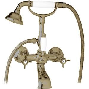 Смеситель Cezares Lord для ванны, с ручным душем, бронза (Lord-VD-02) turbolenza vd 01 смеситель для ванны и душа хром turbolenza cezares