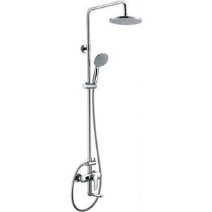 Душевая система BelBagno Reno со смесителем для ванны, излив, верхним и ручным душем, хром (REN-VSCM-CRM-IN) душевая система belbagno reno со смесителем для ванны верхним и ручным душем хром ren docm crm in