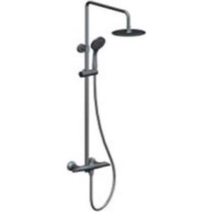 Душевая система BelBagno Grano со смесителем для ванны, верхним и ручным душем, (ручки Twist), хром (GRA-DOC-CRM/Twist) grano