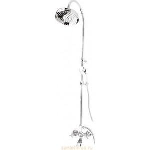 Душевая система Cezares Lord со смесителем для ванны, верхним и ручным душем (Lord-CVD-01) душевая система belbagno reno со смесителем для ванны верхним и ручным душем хром ren docm crm in