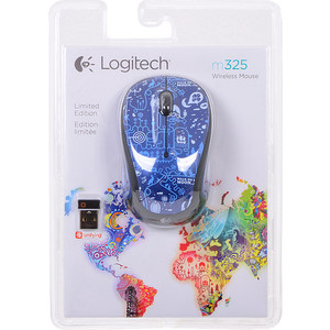 Мышь Logitech M325 Blue Smile (910-003268)