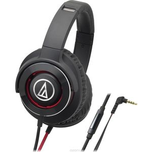 Наушники Audio-Technica ATH-WS770 iS black/red наушники audio technica ath ar1is black