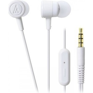 Наушники Audio-Technica ATH-CKL220 iS white охватывающие наушники audio technica ath m50x white