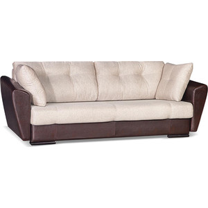 Диван Галактика Кентукки Д3 mercury dark brown, alba cream