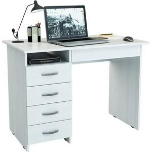 Письменный стол Мастер Милан-1 левый (белый) стол эргономичный левый 1100х1400 шатура unica