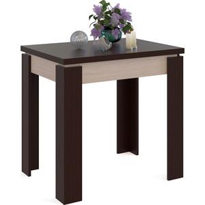 Стол обеденный СОКОЛ СО-1 беленый дуб/венге раздвижной большой стеклянный обеденный стол кубика нагано 2 стекло стекло песочное беленый дуб