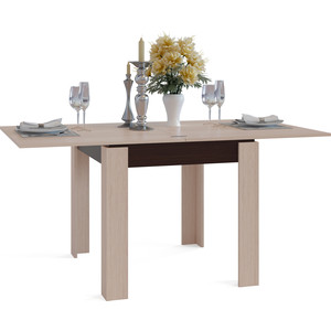 Стол обеденный СОКОЛ СО-2 венге/беленый дуб обеденный стол дик стол 41 венге стекло черное