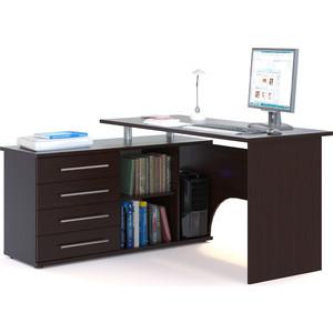 Компьютерный стол СОКОЛ КСТ-109Л венге компьютерный стол с тумбой кст 109