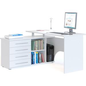 Компьютерный стол СОКОЛ КСТ-109Л белый компьютерный стол с тумбой кст 109