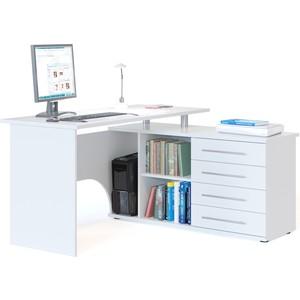 Компьютерный стол СОКОЛ КСТ-109П белый компьютерный стол с тумбой кст 109