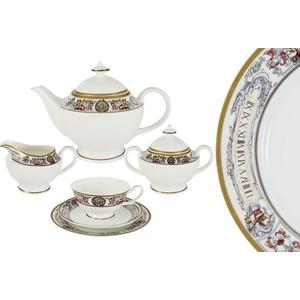 Чайный сервиз 21 предмет на 6 персон Emerald Мельпомена (E5-14-02/21-AL)