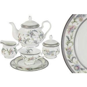 Чайный сервиз 21 предмет на 6 персон Emerald Сад цветов (E5-14-215/21-AL)