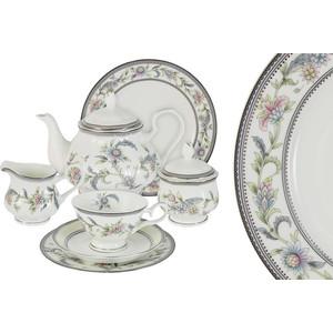 Чайный сервиз 40 предметов на 12 персон Emerald Сад цветов (E5-14-215/40-AL)