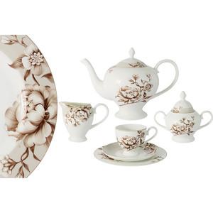 Чайный сервиз 21 предмет на 6 персон Emily Стефания (E8-HA022/21-AL) emily чайный сервиз 21 предмет на 6 персон венеция