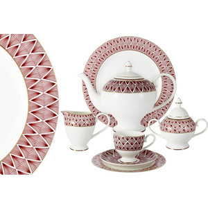 Чайный сервиз 40 предметов на 12 персон Emily Фортуна (E8-HA037/40-AL)