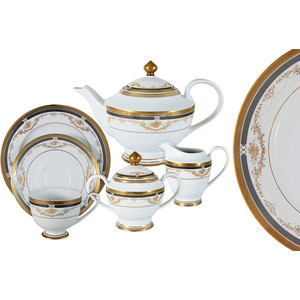 Чайный сервиз 23 предмета на 6 персон Midori Петергоф (MI2-K6861-Y6/23A-AL)