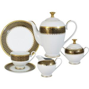 Чайный сервиз 23 предмета на 6 персон Midori Чёрное золото (MI2-K7185-E8/23-AL)