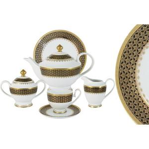 Чайный сервиз 23 предмета на 6 персон Midori Чёрное золото (MI2-K7185-E8/23A-Al)