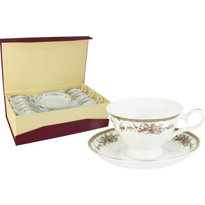 Чайный набор 12 предметов на 6 персон Emerald Изабелла (E5-15-606/12-AL) от ТЕХПОРТ