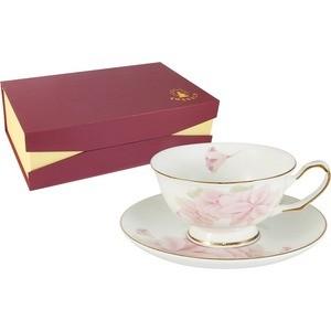 Чайный набор 12 предметов на 6 персон Emerald Розовые цветы (E5-HV004011/12-AL)