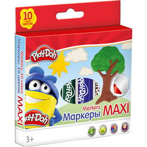 Фломастеры Play Doh 10 шт (PDDB-US1-14MB-10) play doh игровой набор магазинчик домашних питомцев
