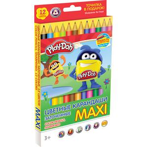 Цветные карандаши Play Doh 12 цв (PDCP-US1-8QP-12) play doh набор для лепки магазинчик печенья play doh
