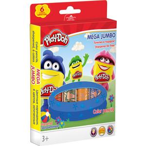 Цветные карандаши Play Doh 6 шт (PDDB-US1-3MJP-6) play doh краски гуашевые 6 цветов
