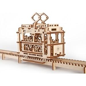 Конструктор 3D-пазл Ugears Трамвай с рельсами (70008) конструктор 3d пазл ugears харди гарди 70030