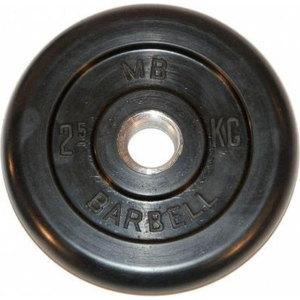 Диск обрезиненный Barbell 26 мм 2.5 кг
