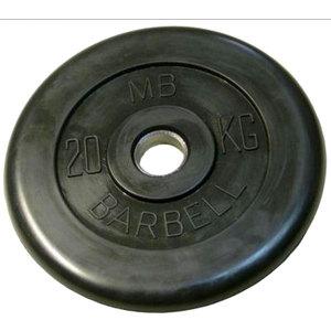 Диск обрезиненный Barbell 26 мм 20 кг