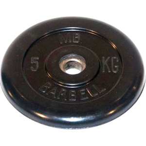 Диск обрезиненный Barbell 26 мм 5 кг диск обрезиненный titan 26 мм 5 кг черный