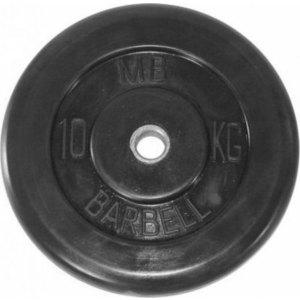 Диск обрезиненный Barbell 31 мм 10 кг диск обрезиненный титан d 31 мм черные 10 0 кг