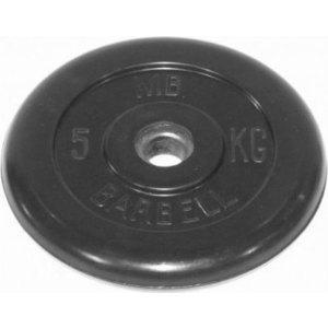 Диск обрезиненный Barbell 31 мм 5 кг диск обрезиненный profigym d 26 мм чёрный 5 0 кг