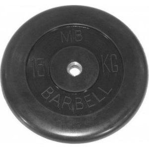 Диск обрезиненный Barbell 51 мм 15 кг