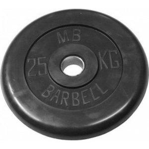 Диск обрезиненный Barbell 51 мм 25 кг
