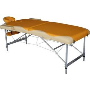 Массажный стол DFC Nirvana elegant premium, 192х75х6 cm, (алюминиевые ножки, оранжево-белый) luomaya оранжево красный 80b