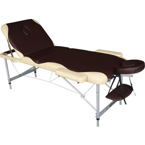 Массажный стол DFC Nirvana elegant pro, (алюминиевые ножки, коричнево-бежевый)
