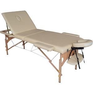 Массажный стол DFC Nirvana Relax Pro (деревяные ножки, бежевый) каминная вытяжка gorenje wht68inb